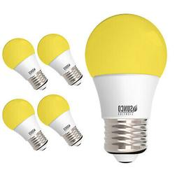 Sunco 4 Pack Dimmable Bug Repel A15 LED Light Bulb 8W 2000K