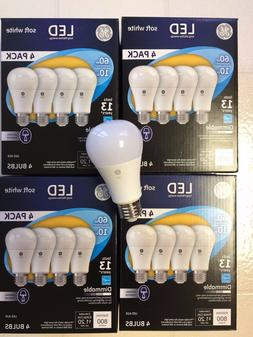 Sweet 16 PACK GE LED 60W = 10W Soft White DIMMABLE 60 Watt E