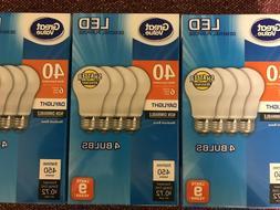 12 Pack LED 40W = 6W Daylight 40 Watt Equivalent A19 5000K E