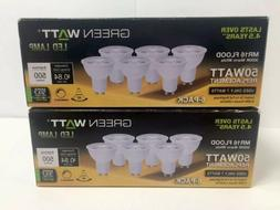 Two 6 Pack LED WARM WHITE DIMMABLE MR16 GU10 Flood Light 50W