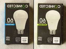TWO TCP LED Connected A19 Bulbs, Soft White 2700K Daylight 5