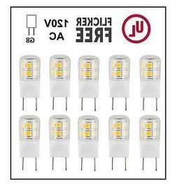 CBConcept UL-Listed, G8 LED Light Bulb , 10-Pack, 2 Watt,