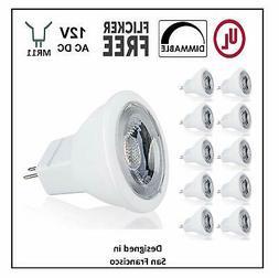 CBConcept UL-Listed MR11 GU4.0 LED Light Bulbs, 10-Pack, 2 W