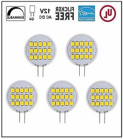 CBConcept UL-Listed Side-Pin G4 LED Bulb, 5-Pack,1.8W,Dimmab