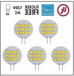 CBConcept UL-Listed Side-Pin G8 LED Light Bulb, 5-Pack, 1.6W