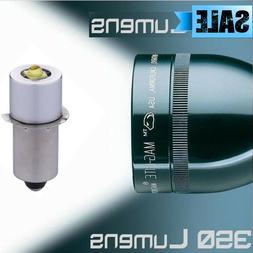 2 x Ultra Bright 350 Lumen Maglite LED Bulb Conversion Upgrade 3-6 Cell CD Model