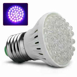 Ultra Bright E27 UV Ultraviolet Color Purple Light 38LED Lam