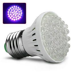 Ultra Bright E27 UV Ultraviolet Color Purple Lamp 38LED Ligh