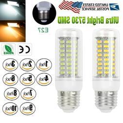 US 1-10 pack E27 LED Light 72 LEDS Corn Bulb Cool Warm White