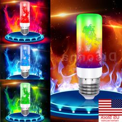 US 4Modes E27 7Color Fire LED Effect Light Bulb Flickering F
