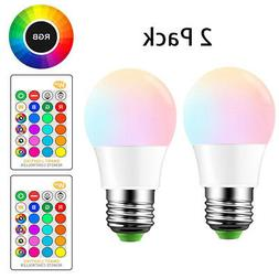 E26 LED Light Bulbs RGB Color Changing 5W A19 Cool White Bul