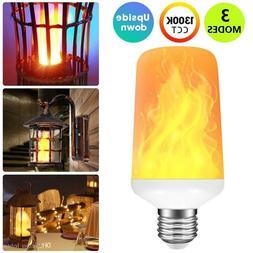 USA FREE Shipping E27 LED Burning Light Flicker Flame Lamp B