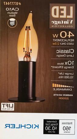 Kichler Vintage Collection 40-Watt Amber White CA10 LED Bulb