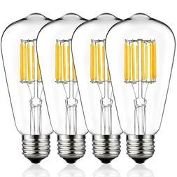Dimmable LED Light Bulb - Edison Style - 4 PK / 8 PK - Warm