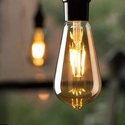 6-Pack Vintage LED Edison Light Bulbs, Dimmable 6-watt ST64