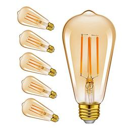 Vintage Edison LED Light Bulbs, Emotionlite Dimmable E26 Bul