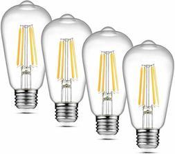 Ascher Vintage Led Edison Bulbs, 6W, Equivalent 60W, Non-Dim