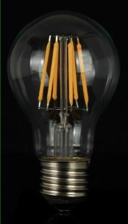 Vintage LED Filament Bulb A19 8W LED Light Bulb E26 Base Cle