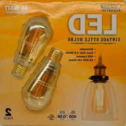 New Feit LED Vintage Style Light Bulbs Dimmable 400L 2200K 4
