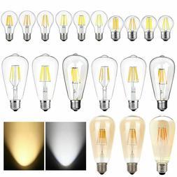 Vintage Retro E26 4W 6W 8W Dimmable LED Light Bulb COB Ediso