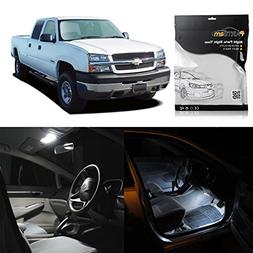 Partsam White Interior LED Light Package Kit Replacement Bul