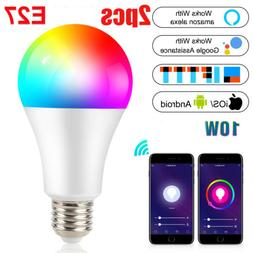 Wifi Smart LED light Bulb 9W E26 RGB Dimmable for Alexa/Goog