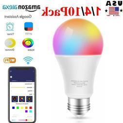⭐ Wifi Smart Bulb 9W E27 B22  Multi-Color LED Lamp Amazon