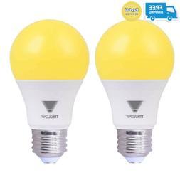 TriGlow Yellow LED A19 Light Bulb, 9W  Yellow Bug Light Bulb