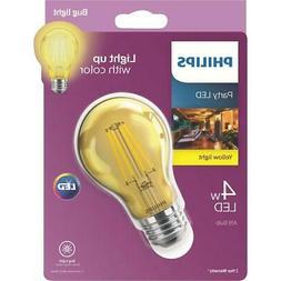 Philips Yellow A19 Medium 4W Indoor/Outdoor LED Decorative P
